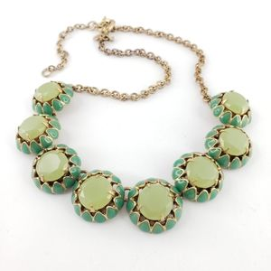 J. Crew Necklace Lime Green Yellow Blue Pop Colors